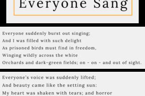 Poem of the Week – 'Everyone Sang', Siegfried Sassoon